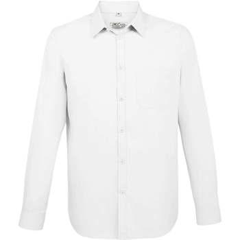 Textiel Heren Overhemden lange mouwen Sols BALTIMORE FIT BLANCO Blanco