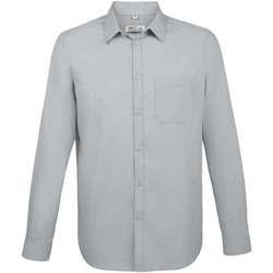 Textiel Heren Overhemden lange mouwen Sols BALTIMORE FIT GRIS Gris