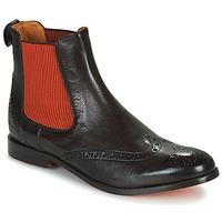Schoenen Dames Laarzen Melvin & Hamilton AMELIE 5 Brown / Orange