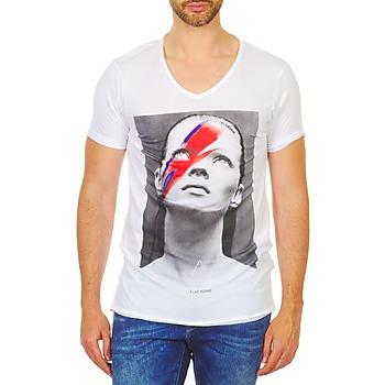 Textiel Heren T-shirts korte mouwen Eleven Paris KATOS Wit