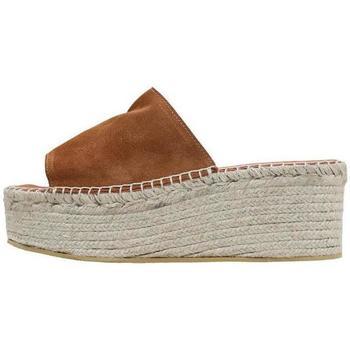 Schoenen Dames Leren slippers Senses & Shoes  Brown