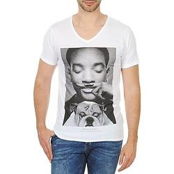 Textiel Heren T-shirts korte mouwen Eleven Paris WOLY M Wit