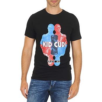 Textiel Heren T-shirts korte mouwen Eleven Paris KIDC M Zwart