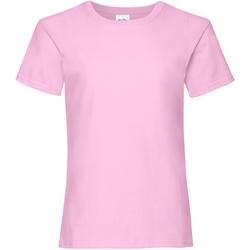 Textiel Meisjes T-shirts korte mouwen Fruit Of The Loom 61005 Lichtroze