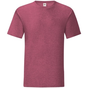 Textiel Heren T-shirts korte mouwen Fruit Of The Loom 61430 Heide Bourgogne