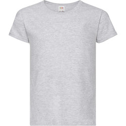 Textiel Meisjes T-shirts korte mouwen Fruit Of The Loom 61005 Heide Grijs