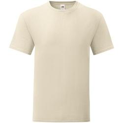 Textiel Heren T-shirts korte mouwen Fruit Of The Loom 61430 Natuurlijk