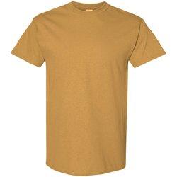 Textiel Heren T-shirts korte mouwen Gildan 5000 Oud Goud