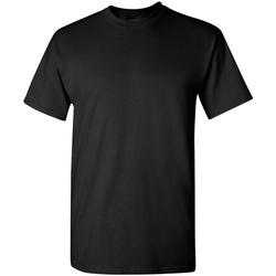 Textiel Heren T-shirts korte mouwen Gildan 5000 Zwart