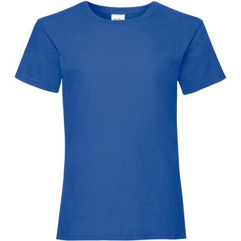 Textiel Meisjes T-shirts korte mouwen Fruit Of The Loom 61005 Koninklijk