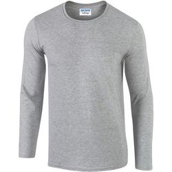 Textiel Heren T-shirts met lange mouwen Gildan 64400 Sportgrijs (RS)