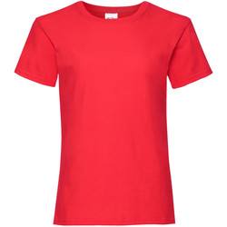 Textiel Meisjes T-shirts korte mouwen Fruit Of The Loom 61005 Rood