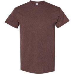 Textiel Heren T-shirts korte mouwen Gildan 5000 Russet