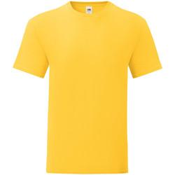 Textiel Heren T-shirts korte mouwen Fruit Of The Loom 61430 Zonnebloem Geel