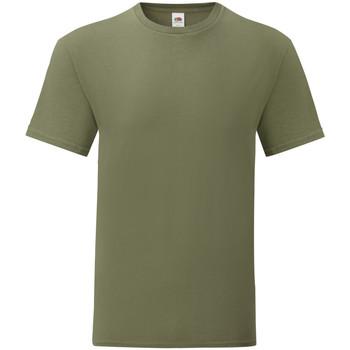 Textiel Heren T-shirts korte mouwen Fruit Of The Loom 61430 Klassiek Olijfgroen