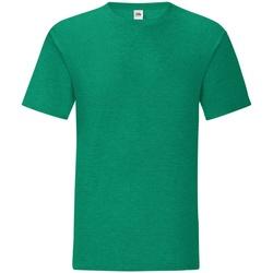 Textiel Heren T-shirts korte mouwen Fruit Of The Loom 61430 Heide Groen
