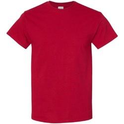 Textiel Heren T-shirts korte mouwen Gildan 5000 Antiek kersenrood