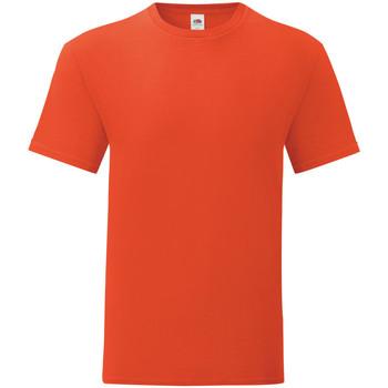 Textiel Heren T-shirts korte mouwen Fruit Of The Loom 61430 Vlammende sinaasappel