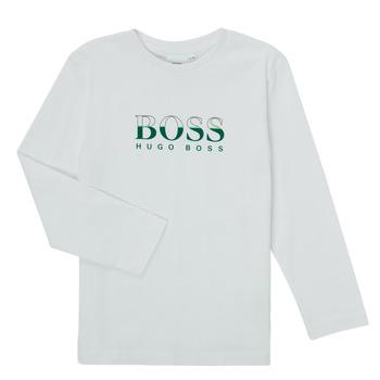 Textiel Jongens T-shirts met lange mouwen BOSS SOPELAS Wit