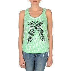 Textiel Dames Mouwloze tops Eleven Paris PAPILLON DEB W Groen / Wit