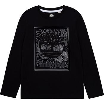 Textiel Jongens T-shirts met lange mouwen Timberland BAGIRI Zwart