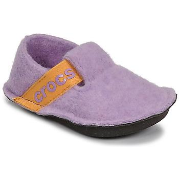 Schoenen Meisjes Sloffen Crocs CLASSIC SLIPPER K Violet / Geel