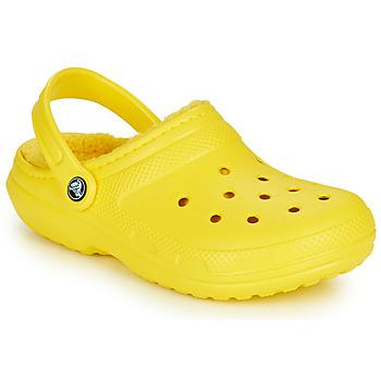 Schoenen Klompen Crocs CLASSIC LINED CLOG Geel