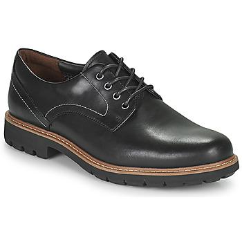 Schoenen Heren Derby Clarks BATCOMBE HALL Zwart