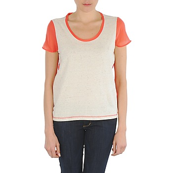 Textiel Dames T-shirts korte mouwen Eleven Paris EDMEE Beige / Orange
