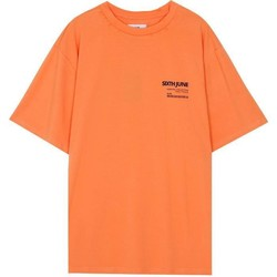 Textiel Heren T-shirts korte mouwen Sixth June T-shirt  barcode orange