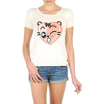 Textiel Dames T-shirts korte mouwen Manoush TEE SHIRT VALENTINE Ecru