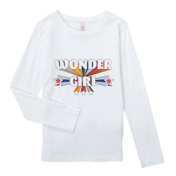 Textiel Meisjes T-shirts met lange mouwen Only KONTINNA Wit