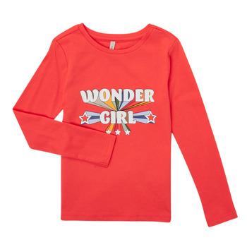 Textiel Meisjes T-shirts met lange mouwen Only KONTINNA Roze