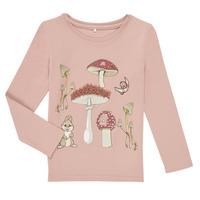 Textiel Meisjes T-shirts met lange mouwen Name it NMFTHUMPER ALFRIDA LS TOP Violet