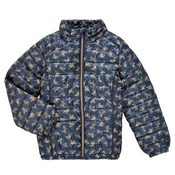 Textiel Meisjes Dons gevoerde jassen Name it NKFMENE FLOWER JACKET Marine