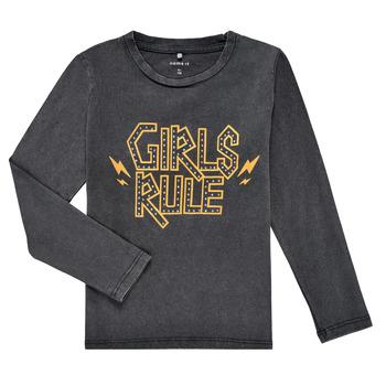 Textiel Meisjes T-shirts met lange mouwen Name it NKFNEBEL LS TOP Zwart