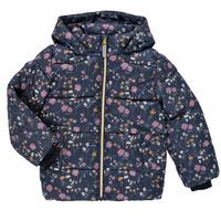 Textiel Meisjes Dons gevoerde jassen Name it NMFMAY PUFFER JACKET Marine / Multicolour