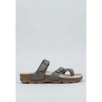 Schoenen Dames Leren slippers Senses & Shoes  Kaki