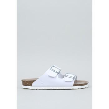Schoenen Dames Leren slippers Senses & Shoes  Wit