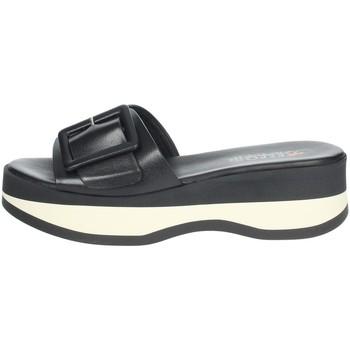 Schoenen Dames Leren slippers Repo 62114-E1 Black/White