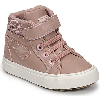Schoenen Meisjes Hoge sneakers Kangaroos KAVU III Roze