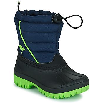 Schoenen Jongens Snowboots Kangaroos K-BEN Blauw / Groen