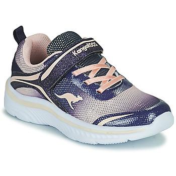 Schoenen Meisjes Lage sneakers Kangaroos K-MAID GLEAM EV Blauw / Zilver