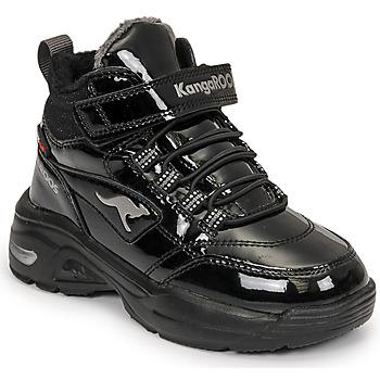 Schoenen Meisjes Hoge sneakers Kangaroos KC-ICY EV RTX Zwart