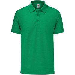 Textiel Heren Polo's korte mouwen Fruit Of The Loom 63042 Groene heide