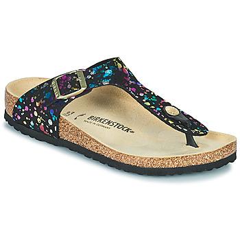 Schoenen Meisjes Slippers Birkenstock GIZEH Zwart / Multicolour