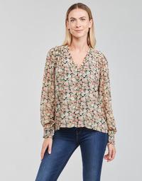 Textiel Dames Tops / Blousjes Betty London PEPPER Zwart / Multicolour