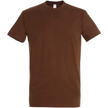 Textiel Dames T-shirts korte mouwen Sols IMPERIAL camiseta color Tierra Beige