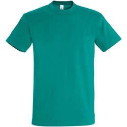 Textiel Dames T-shirts korte mouwen Sols IMPERIAL camiseta color Esmeralda Verde