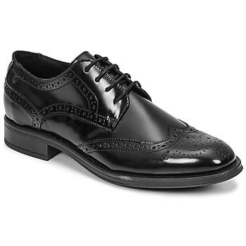 Schoenen Heren Derby Carlington LOUVIAN Zwart